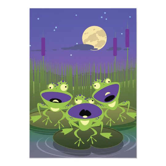 Funny Frogs Card