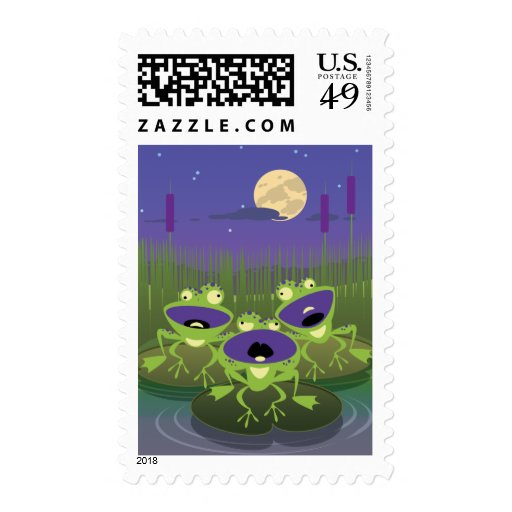 Funny Frogs Postage Stamps