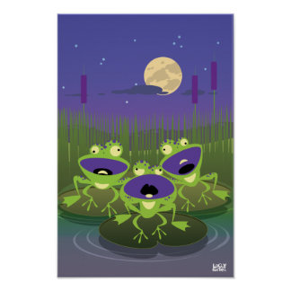 Funny Frogs Print