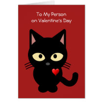 Funny From the Cat Valentines' Day Card