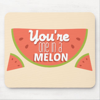 Funny fruit pun you're one in a million (melon) mouse pad