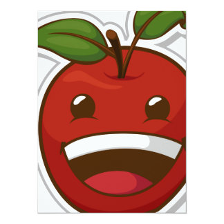 Funny Fruit with Expression - Apple Card