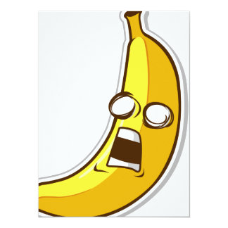 Funny Fruit with Expression - Banana Invite