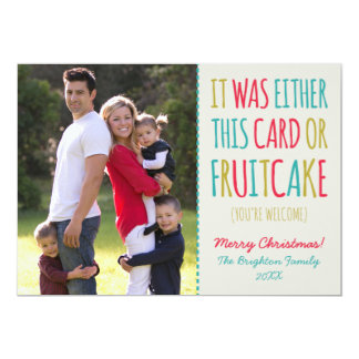 Funny Fruitcake Happy Holidays 5x7 Paper Invitation Card