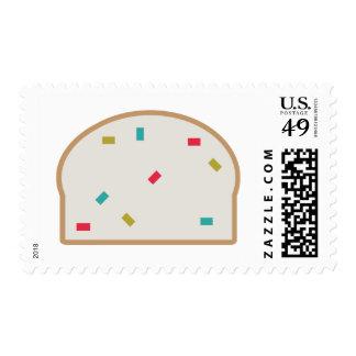 Funny Fruitcake Happy Holidays Postage