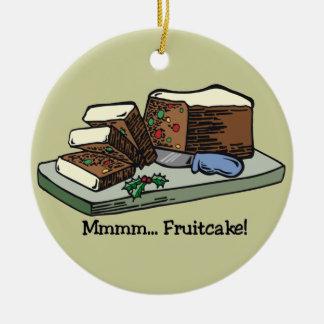 Funny Fruitcake Ornament