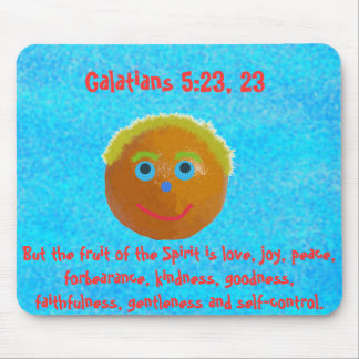 Funny Fruits of the Spirit Orange Mouse Pad