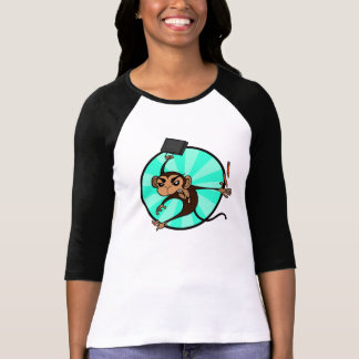 FUNNY FRUSTRATED MONKEY 3/4 SLEEVE T-SHIRT