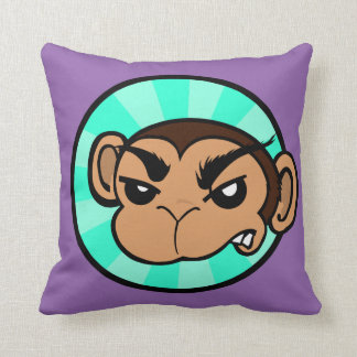 FUNNY FRUSTRATED MONKEY SQUARE THROW PILLOW