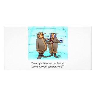 Funny Frzen Wine Cartoon Gift! Card