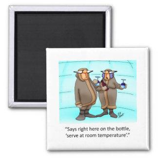 Funny Frzen Wine Cartoon Gift! Magnets