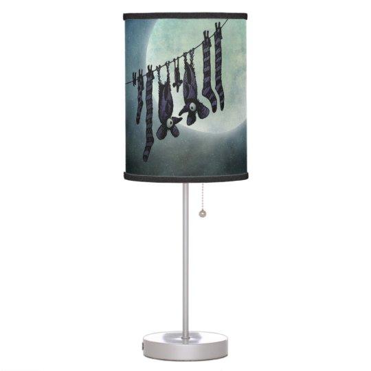 Funny Full Moon Bats Table Lamp