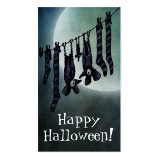 Funny Full Moon Halloween Bats Business Card