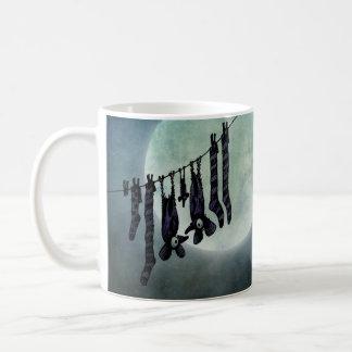Funny Full Moon Night Bats on a Washing Line Coffee Mug