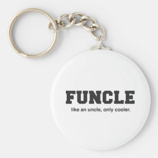 Funny Funcle College Print Keychain