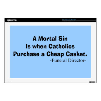 Funny Funeral Director Gifts Laptop Skin