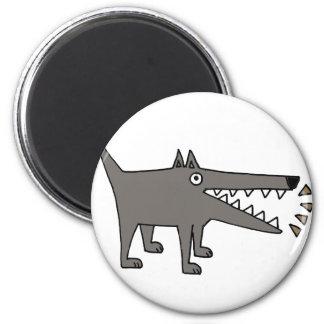 Funny Funky Barking Gray Watchdog Magnet
