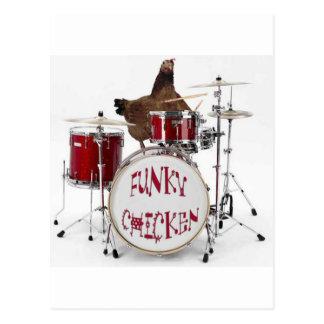 Funny Funky chicken Postcard