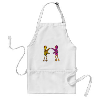 Funny Funky Chickens Dancing Adult Apron