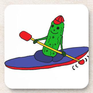 Funny Funky Kayaking Pickle Coaster