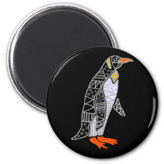 Funny Funky Penguin Art 2 Inch Round Magnet
