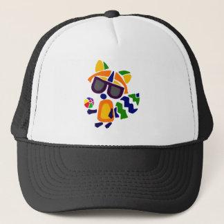 Funny Funky Raccoon Abstract Art Trucker Hat