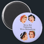 """Funny Funny Ladies Magnet<br><div class=""""desc"""">Vintage ladies networking a cool funny office humor with a lavender background design</div>"""