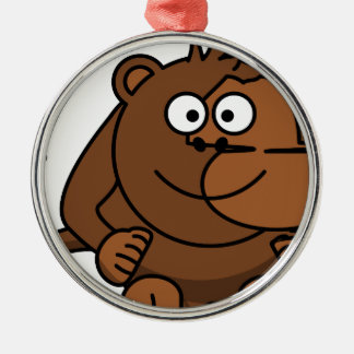 Funny Funny Monkey/of monkey Metal Ornament
