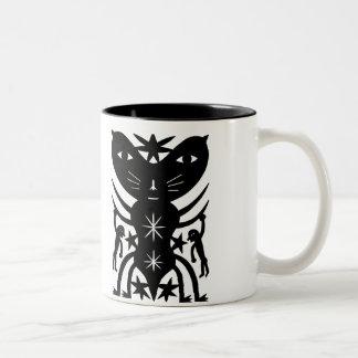 Funny Funny Monster Two-Tone Coffee Mug