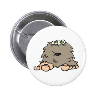funny furry bigfoot monster 2 inch round button