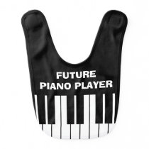 Funny FUTURE PIANO PLAYER baby bib for kids