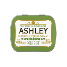 Funny Gag Gift - Curiously Strong And Sweet Jelly Belly Candy Tins at Zazzle
