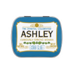 Funny Gag Gift - Curiously Strong and Sweet Jelly Belly Tin<br><div class='desc'>Blue Woman Version - A humorous take on the famous tin that everyone will recognize. A party favor or anniversary memento. If you need to personalize it more,  click on the customize this button to make changes.</div>