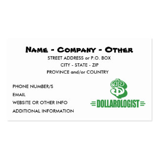 Funny Gambling Double-Sided Standard Business Cards (Pack Of 100)