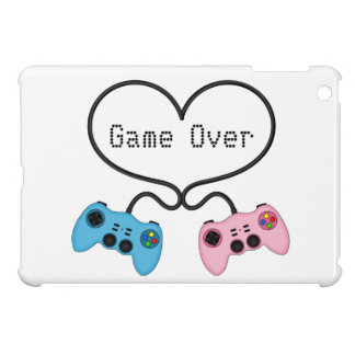 Funny Game Over - Pink and Blue Gaming Controllers iPad Mini Cover