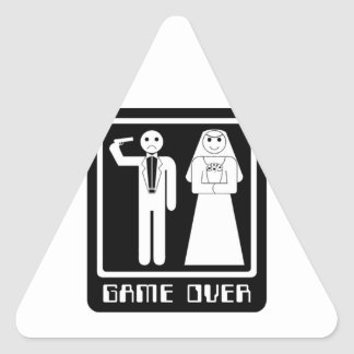 Funny Game Over Triangle Sticker