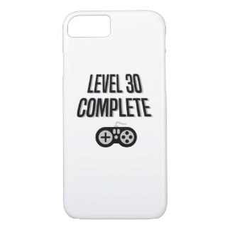 Funny Gamer 30th Birthday  Level 30 Complete iPhone 8/7 Case