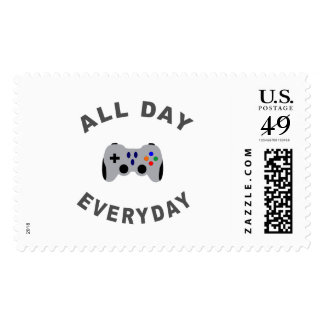 Funny Gamer All Day Everyday R Postage