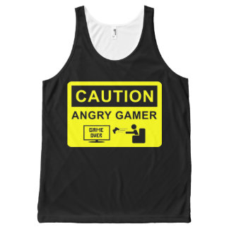 Funny Gamer All-Over-Print Tank Top
