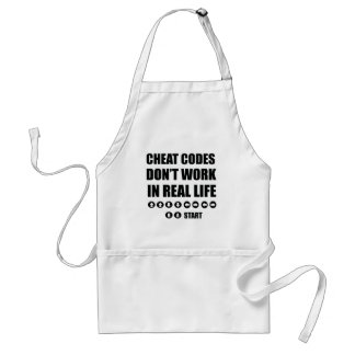 Funny Gamer designs Adult Apron