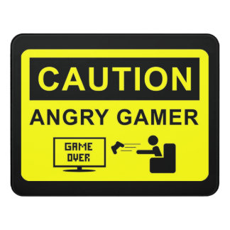 funny gamer door sign