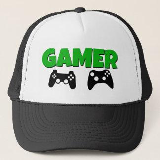 Funny Gamer Hat Green