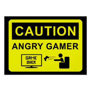 Funny Gamer Poster at Zazzle