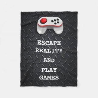 Funny Gamer Quotes Fleece Blanket