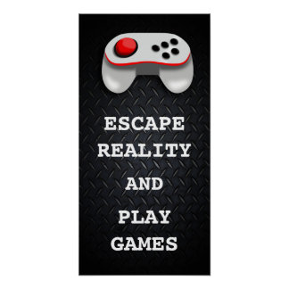 Funny Gamer Quotes Poster
