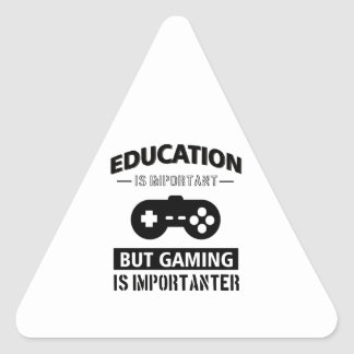 Funny Gamer Triangle Sticker