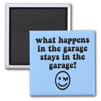 Funny garage 2 inch square magnet