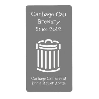 Funny Garbage Can Mini Beer Label