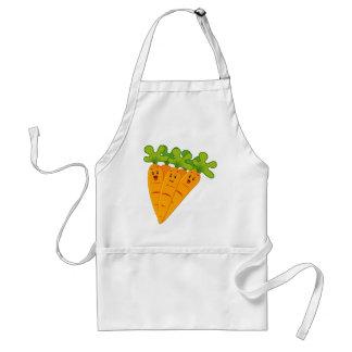 Funny garden carrots adult apron
