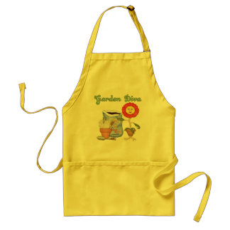 Funny Garden Diva Adult Apron